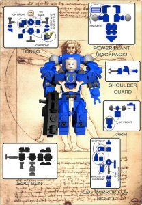 Plan space marines lego